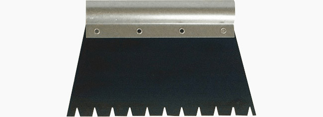 Metal spatula type E for glues wide-toothed