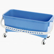 Rectangular blue bucket 11-liter